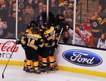 Not Everybody's happy. (NHL Hockey) Royalty Free Stock Photo