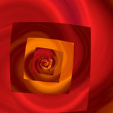 Not Exactly Square. Abstract spiral with harvest colors of orange and maroon Royalty Free Stock Image