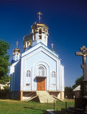 Not finished construction of the orthodox church. Royalty Free Stock Photo