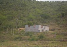 Not finished house near the Great Kei Bridge at Eastern Cape of South Africa Royalty Free Stock Photography