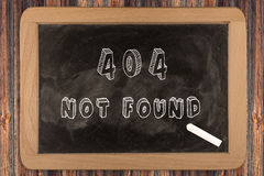 404 - not found - chalkboard Stock Images