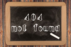 404 - not found - chalkboard Royalty Free Stock Photo
