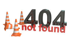 404 not found concept Stock Image