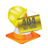 404 not found construction concept illustration. Design over a white background Stock Photos