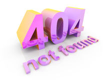 404 - not found. 3D rendered Illustration. 404 - not found Royalty Free Stock Photography
