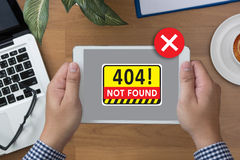 Not Found 404 Error Failure Warning Problem Royalty Free Stock Images