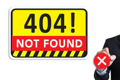Not Found 404 Error Failure Warning Problem Royalty Free Stock Image