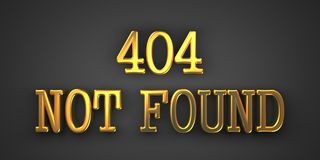 Not Found Error. Information Concept. Stock Photos
