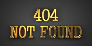 Not Found Error. Information Concept. 404 Not Found. Gold Text on Dark Background. Information Concept. 3D Render Stock Photos