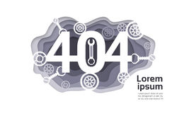 404 Not Found Problem Internet Connection Error Stock Images