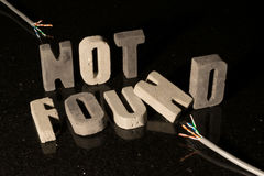 Not found text for missing page or file on website Royalty Free Stock Photos