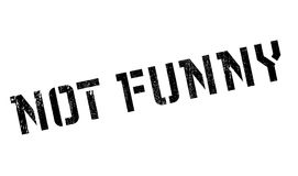 Not Funny rubber stamp Royalty Free Stock Images