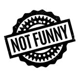 Not Funny rubber stamp Royalty Free Stock Photos