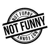 Not Funny rubber stamp Royalty Free Stock Image