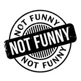 Not Funny rubber stamp Royalty Free Stock Photo