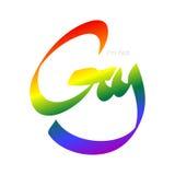 Not gay sign. I'm not gay. Joke vector sign Stock Photos