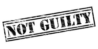 Not guilty black stamp. Isolated on white background Stock Images