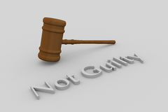 Not Guilty concept Stock Image