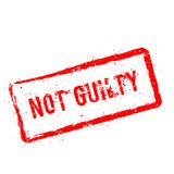 Not Guilty red rubber stamp isolated on white. Not Guilty red rubber stamp isolated on white background. Grunge rectangular seal with text, ink texture and Royalty Free Stock Image