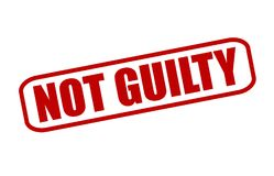 Not guilty. Rubber stamp with text not guilty inside,  illustration Stock Photography