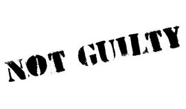 Not guilty stamp Royalty Free Stock Photo
