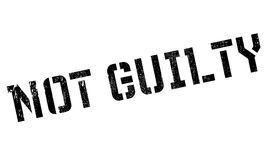 Not guilty stamp Royalty Free Stock Image