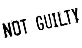 Not guilty stamp Stock Image