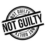 Not guilty stamp Stock Photo