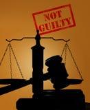 Not Guilty verdict Royalty Free Stock Photos