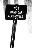 Not Handicap Accessible Sign Stock Image