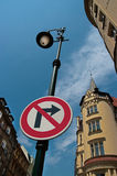 Not here. No right turn Royalty Free Stock Images