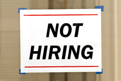 Not Hiring Sign Royalty Free Stock Photos
