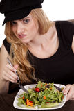 Not liking salad Royalty Free Stock Image