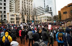 Not My President Protest PDX Royalty Free Stock Photography