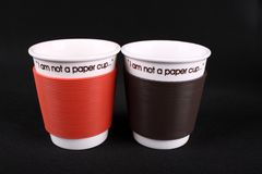 Not paper cup Royalty Free Stock Photography