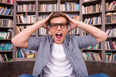 He is not ready to final exams. Royalty Free Stock Photos