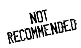 Not Recommended rubber stamp Royalty Free Stock Photography
