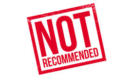 Not Recommended rubber stamp Royalty Free Stock Photos