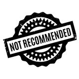 Not Recommended rubber stamp Royalty Free Stock Image