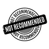 Not Recommended rubber stamp Royalty Free Stock Images