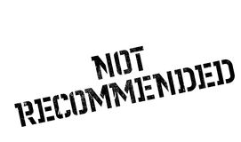 Not Recommended rubber stamp Stock Photo