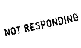 Not Responding rubber stamp Stock Image