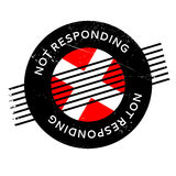 Not Responding rubber stamp Royalty Free Stock Photography