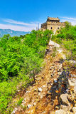 Not restoration view of Great Wall of China, section Stock Photo