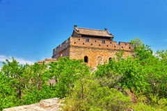 Not restoration view of Great Wall of China, section Stock Image