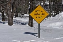 Not a Through Road Stock Photo