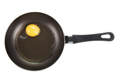Not roasted egg in a frying pan Royalty Free Stock Photography