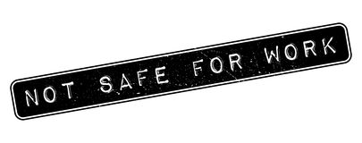 Not safe for work rubber stamp Royalty Free Stock Photography