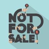 Not For Sal Typography Design. vector illustration