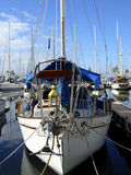 Not For Sale. Sailboat anchored in Waikiki harbor Royalty Free Stock Photo